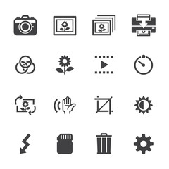 Photography icons and Camera Icons with White Background