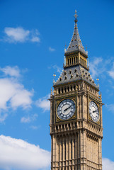 Big Ben Westminster Elizabeth Clock Tower in London England.