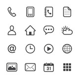 Mobile Phone Icons with White Background