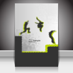 Dot pattern/Halftone parkour moves, on cover design