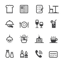 Restaurant icons with White Background