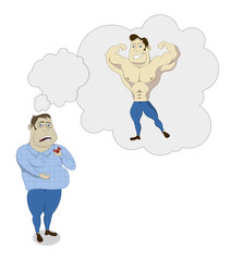 fat man dreams