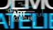 Galerie d'Art déco contemporain nuage de mots animation