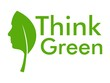 Think green  with leaf and human face