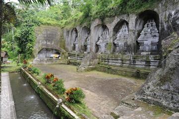 Il tempio di Gunung Kawi a Tampaksiring sull'isola di Bali