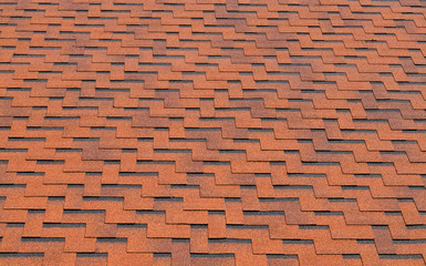 Background of red roof-tiles
