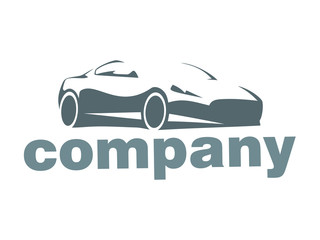 silhouette of the car company logo