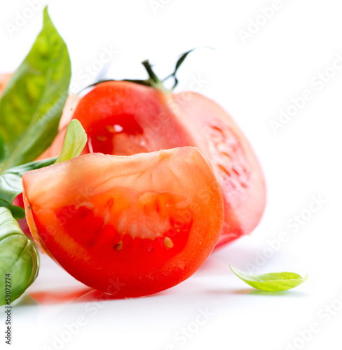 Fresh Tomatoes isolated on a White Background