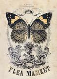 Flea market vintage background