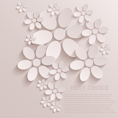 Vector flower background. Eps10