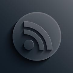Vector dark circle icon. Eps10