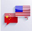 Vector usa and china flags. Eps10