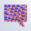 vector flag bubble speech. Eps10