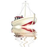 Fischkutter freigestellt - 53075369