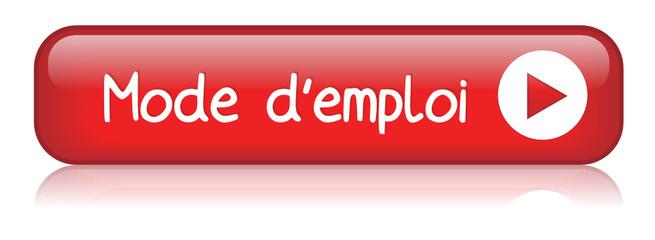 """Bouton Web """"MODE D'EMPLOI"""" (découvrir info guide d'utilisation)"""
