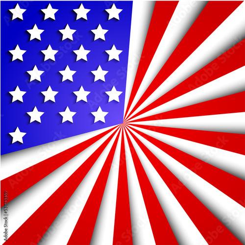 Vector usa flag background. Eps10