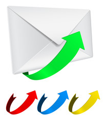envelope with arrow