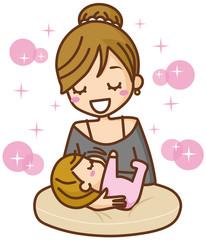 授乳 母子