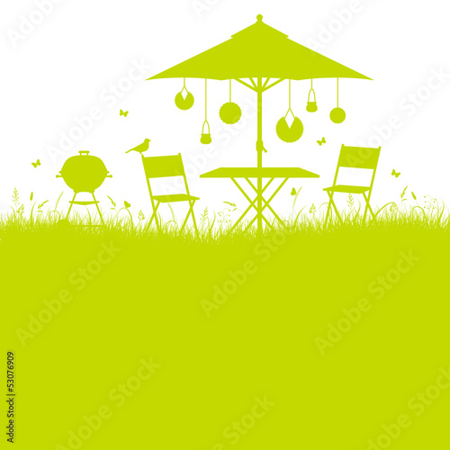 Summer Garden Barbecue Background