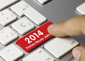 Frohes neues Jahr Tastatur Finger