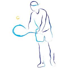 Tennisspieler - Mann spielt Tennis