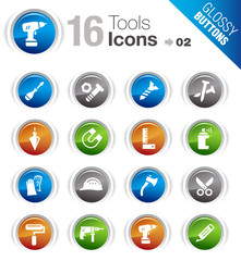 Glossy Buttons - Tools and Construction icons