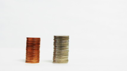 sorting coin, business concept