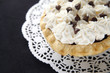 chocolate pie with whipped cream