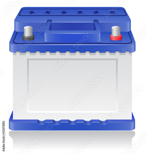 car battery vector illustration