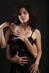 Donna sensuale in lingerie