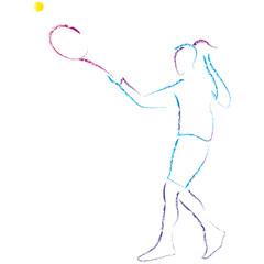 Tennisspielerin - Frau spielt Tennis