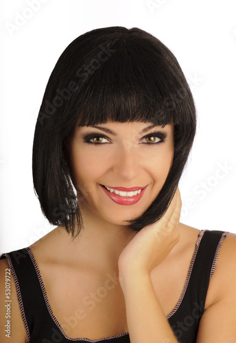 Girl with bob hairstyle