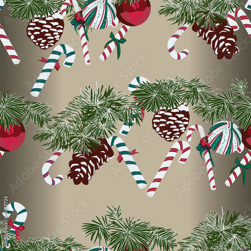 Christmas Gift Wrapping Paper Swatch