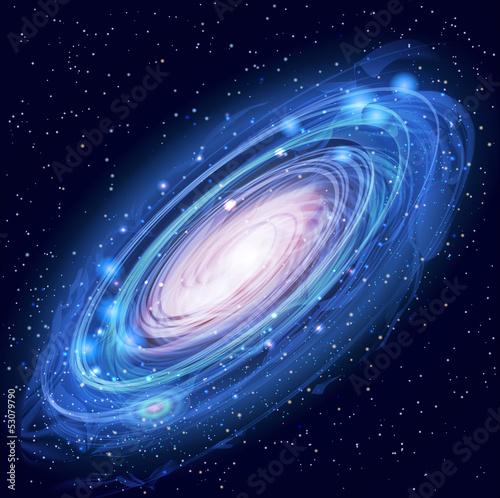 Fototapeta Beautiful Glowing Vector Andromeda Galaxy