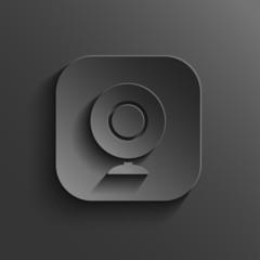 Webcamera icon - vector black app button