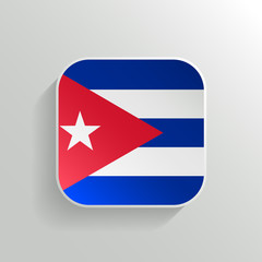 Vector Button - Cuba Flag Icon