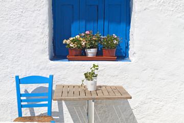Traditional Greek house from the Cyclades islands