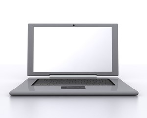Laptop with white screen