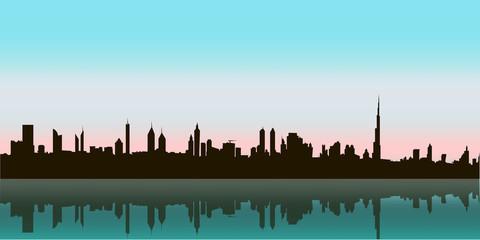 Dubai Vector Skyline