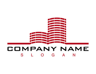 Red building logo