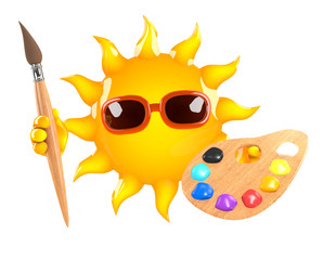 Sunshine paints a picture