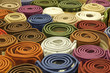 Colorful carpets in the store - 53082705