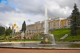 The palace and fountain, Peterhof, Upper Park, Russia