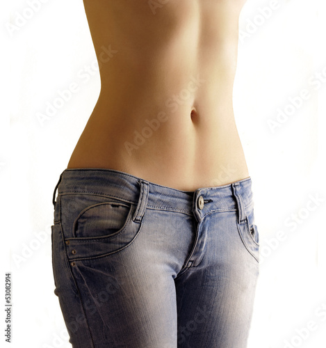 Sexy flat belly of a woman