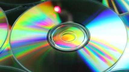 Laser reflejado en un cd y en la lente de la camara