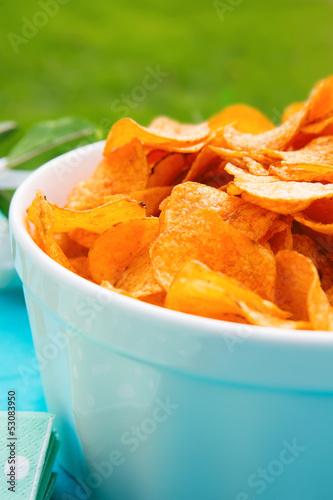 Fresh Bowl of Potato Chips