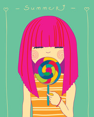girl and candy