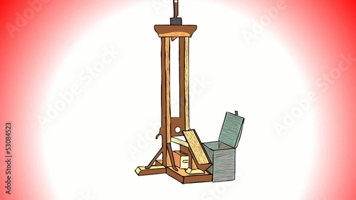 The guillotine is a device of  French Revolution