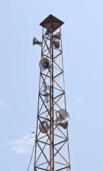 Speaker on high tower