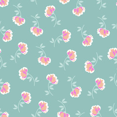 cute little flowers seamless background
